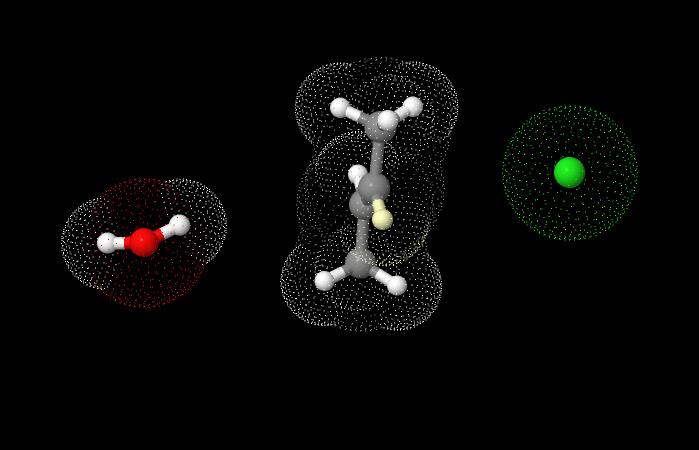 Meccanismo E2 in JSmol