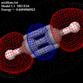 acetilene orbitale molecolare