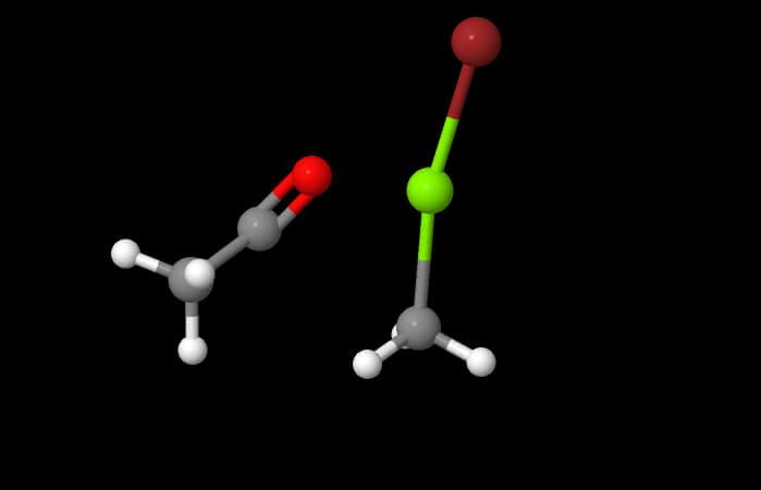 ALDEIDI E CHETONI: addizione nucleofila acilica in JSmol