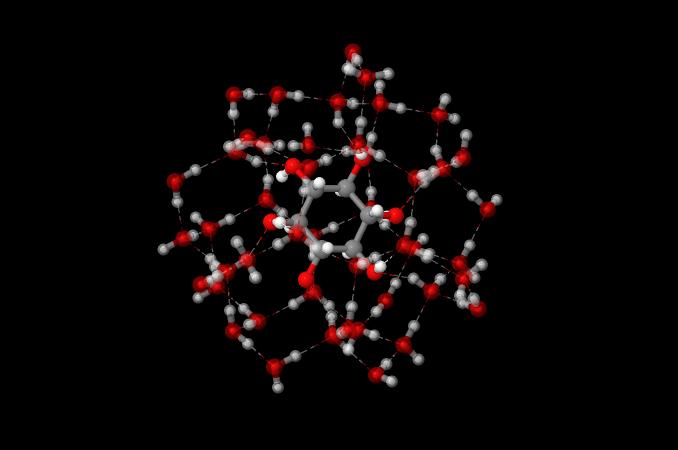 Solvatazione di inositolo, CO2 e solfato in Acqua